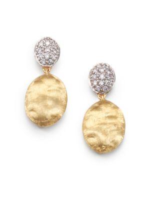 Siviglia Diamond, 18K Yellow & White Gold Drop Earrings