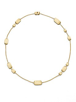 Marco Bicego - 18K Gold Engraved Nugget Station Necklace