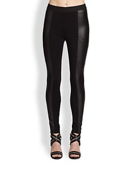 BCBGMAXAZRIA - Andre Faux Leather-Paneled Leggings