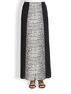 BCBGMAXAZRIA - Alligator-Print Split-Front Maxi Skirt