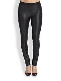 BCBGMAXAZRIA - Faux Leather Cargo Leggings