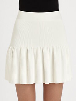 BCBGMAXAZRIA - Gardenia Ribbed Skirt