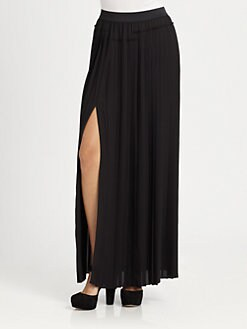 BCBGMAXAZRIA - Dillon Pleated Maxi Skirt