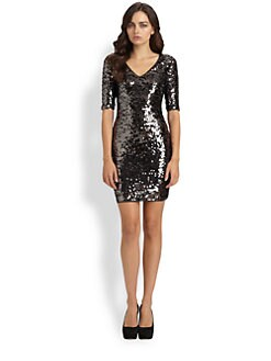 BCBGMAXAZRIA - Knit Sequin Dress