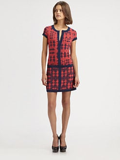 BCBGMAXAZRIA - Daily Ikat-Print Dress