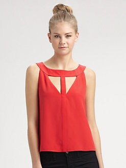 BCBGMAXAZRIA - Nydia Silk Top