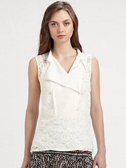 BCBGMAXAZRIA - Layne Sleeveless Lace Top