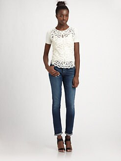 BCBGMAXAZRIA - Emmie Crochet Top