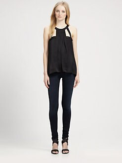 BCBGMAXAZRIA - Jewelneck Top