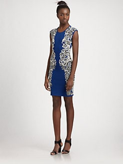 BCBGMAXAZRIA - Knit Side-Pattern Dress