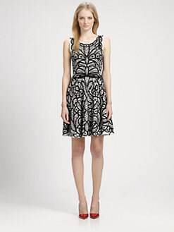 BCBGMAXAZRIA - Lace-Print Dress