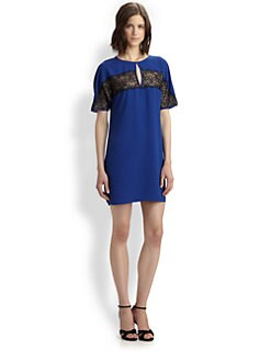 BCBGMAXAZRIA - Henrietta Lace Insert Dress