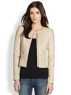 BCBGMAXAZRIA - Quilted Faux Leather Jacket