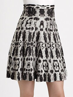 BCBGMAXAZRIA - Snake Print Knit Skirt