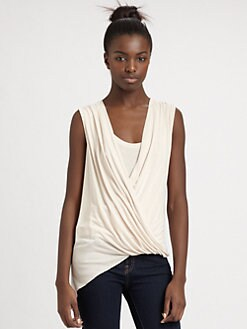BCBGMAXAZRIA - Asymmetric Crossover Top