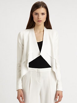 BCBGMAXAZRIA - Gardenia Open Front Blazer