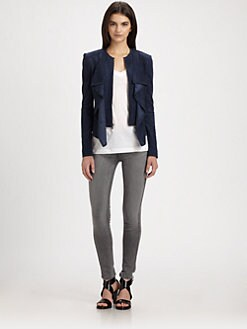 BCBGMAXAZRIA - Ruffled Eyelet Jacket