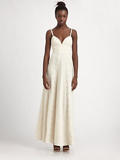 BCBGMAXAZRIA - Lace Panel Maxi Dress