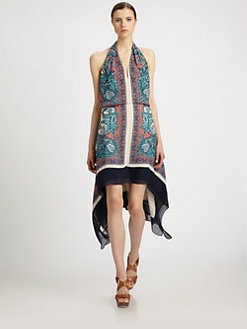 BCBGMAXAZRIA - Printed Halter Dress