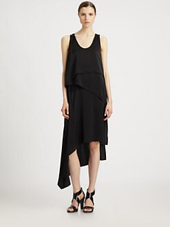 BCBGMAXAZRIA - Asymmetrical Tiered Dress