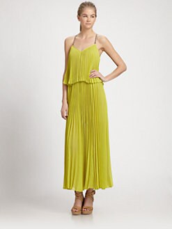 BCBGMAXAZRIA - Accordion Pleat Maxi Dress