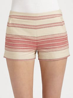 BCBGMAXAZRIA - Striped Cotton Shorts