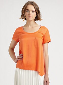 BCBGMAXAZRIA - Kelsey Asymmetrical Shirt