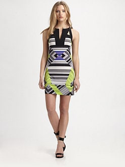 BCBGMAXAZRIA - Aida Printed Stretch Jersey Dress