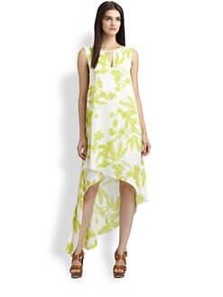 BCBGMAXAZRIA - Willow Floral-Print Asymmetric Dress