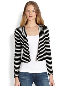 BCBGMAXAZRIA - Cropped Striped Blazer