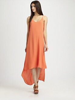 BCBGMAXAZRIA - Rory Hi-Lo Chiffon Dress