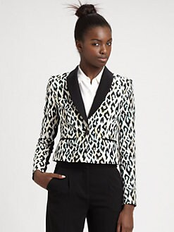 BCBGMAXAZRIA - Milan Leopard Print Blazer