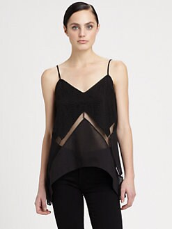 BCBGMAXAZRIA - Cora Sheer Panel Camisole