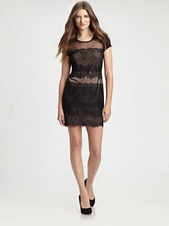 BCBGMAXAZRIA - Maiya Lace-Front Dress
