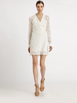 BCBGMAXAZRIA - Lunah Lace Shirt Dress