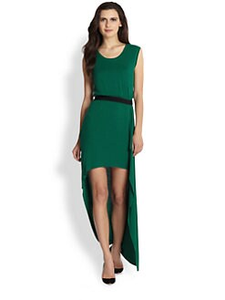 BCBGMAXAZRIA - Hi-Low Hem Stretch Jersey Dress