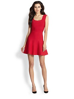 BCBGMAXAZRIA - Cutout-Back Stretch Knit Dress