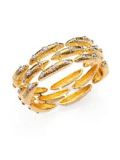 Alexis Bittar - Crystal Staggered Bangle Bracelet