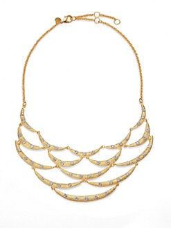Alexis Bittar - Crystal Staggered Bib Necklace