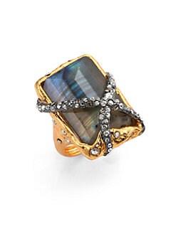 Alexis Bittar - Elements Phoenix Labradorite Rocky Rectangle Ring