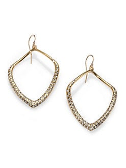 Alexis Bittar - Pave Crystal Drop Earrings/Goldtone