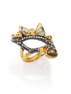Alexis Bittar - Elements Phoenix Pyrite & Crystal Leaf Ring