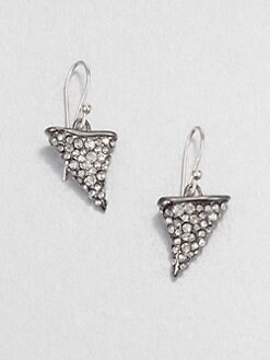 Alexis Bittar - Thorn Earrings/Gunmetal