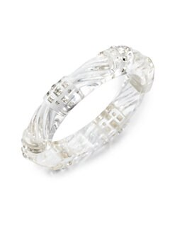 Alexis Bittar - Radiant Lucite & Swarovski Crystal Bangle Bracelet/Medium Clear