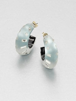 Alexis Bittar - Lucite & Swarovski Crystal Hoop Earrings