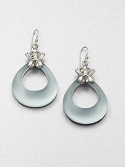 Alexis Bittar - Lucite & Swarovski Crystal Loop Drop Earrings
