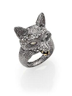 Alexis Bittar - Elements Dark Phoenix Crystal Fox Head Ring