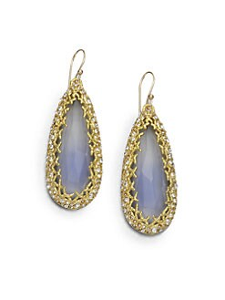 Alexis Bittar - Crystal-Framed Drop Earrings