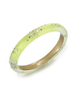 Alexis Bittar - Jeweled Lucite Bangle Bracelet/Neon Yellow