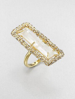 Alexis Bittar - Mother-of-Pearl and White Quartz Doublet Ring